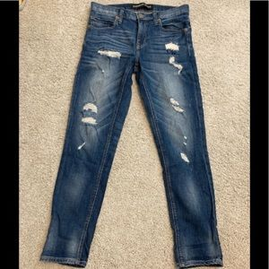 Express Girlfriend Distressed Jeans